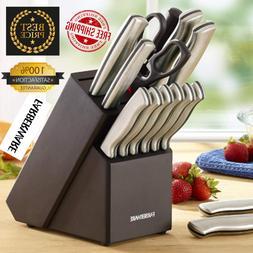 NEW Faberware 15Piece Artiste Collection Cutlery Knife Block