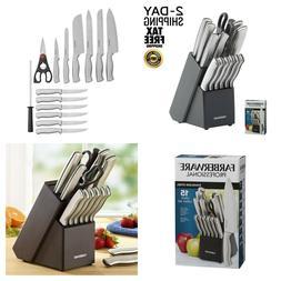 Farberware 15 Piece Artiste Collection Cutlery Knife Block S