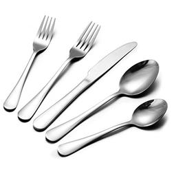 50 Pieces Flatware Cutlery Set - Stainless Steel Silverware