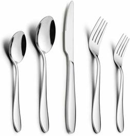 Flatware Set, 40-Piece Silverware Set, LIANYU Stainless Stee