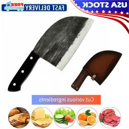 Handmade Forged Kitchen Butcher Knife Cleaver Chop Full Tang