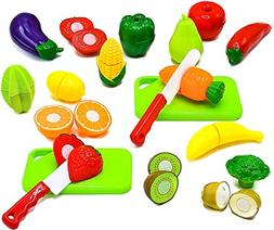 Little Treasures Fruit and Vegetables Play Kitchen Food for