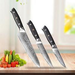 """Glory Chef Knife Set 8"""" 5"""" 3.5"""" VG10 Steel Kitchen Knives Sl"""