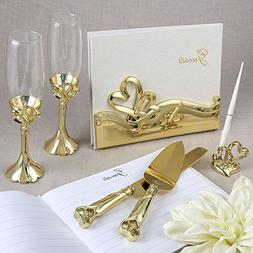 Fashioncraft Gold Double Heart Wedding / 50th Anniversary Ac