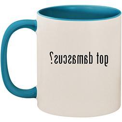 got damascus? - 11oz Ceramic Colored Inside and Handle Coffe