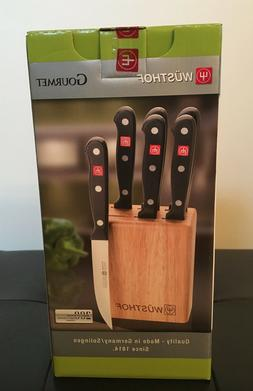 Wusthof GOURMET 7 Piece Steak Knife Set 4050/12cm w/ Storage