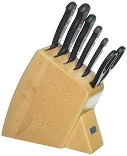 Wusthof Gourmet 7 Piece Jumbo Studio Natural Knife Block Set