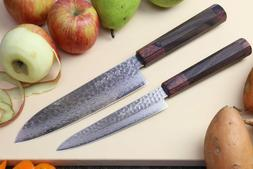 Yoshihiro 46 Layers Hammered Damascus Santoku Multipurpose K
