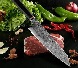 Handmade 67-Layers Japanese Damascus Kiritsuke Chef Knife Wo