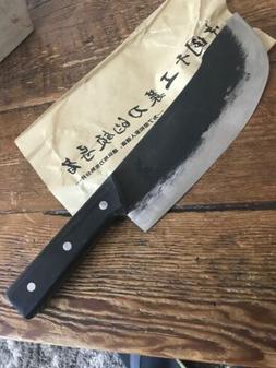 "Handmade 8"" Chinese Chef Knife Clad Forged Steel Chopper B"