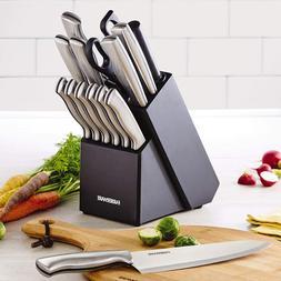 High-Carbon Stainless Steel Knife Block Set Super Sharp Kitc