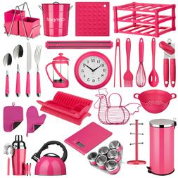 Hot Pink Kitchen Storage Canisters Accessories Utensils Cutl