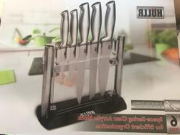 HULLR Stainless Steel Kitchen Knife Set With Acrylic Stand -