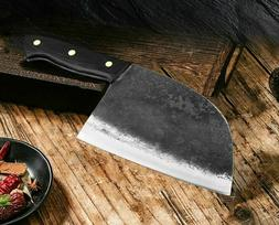 Hunters Serbian Chef Knife Steel Kitchen Knives Cleaver Forg