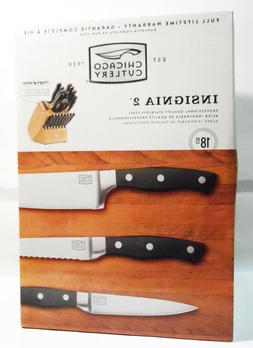 Chicago Cutlery Insignia 2 - 18Pc Knife Block Set w/In-Block