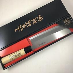 Japanese Shimmoura Carbon Steel Kitchen Nakiri Vegetable Kni