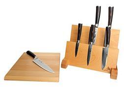 ZHEN Japanese Damascus VG-10 Steel 6 Piece Cutlery Knife Set