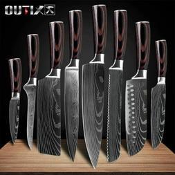 japanese kitchen knives Laser Damascus pattern chef knife