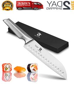 Japanese Sushi Knife 7 Inch Kitchen Santoku Chef Knife With