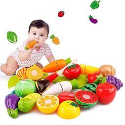 Gbell Kids Kitchen Set - 20Pcs Pretend Play Food Playset ,Cu