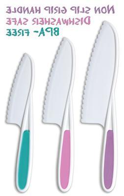 Tovla Knives for Kids 3-Piece Nylon Kitchen Knife Set: Child