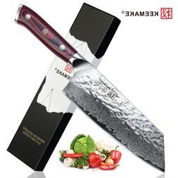 Damascus 7-inch Nakiri Vegetable Knife Ultra-Sharp Kitchen S