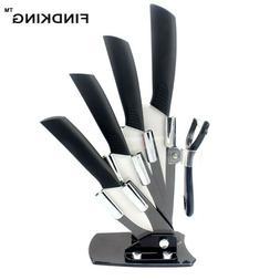 "Kitchen Ceramic Knife set 3"" 4"" 5"" 6"" inch Zirconia White Bl"