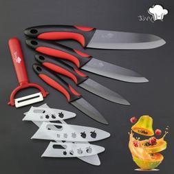 """Kitchen Ceramic Knives 3"""" 4"""" 5"""" 6"""" inch peeler Black Blade"""