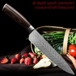 Kitchen Chef Knife 8 Inch Utility Santoku Meat Cleaver Stain