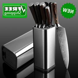 Kitchen Knife Block Storage Holder Home Knives Stainless Ste