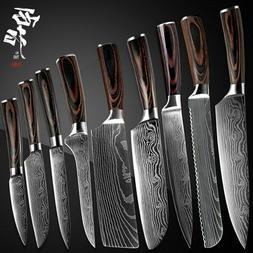 Kitchen Knife Damascus Pattern Knives Chef Knife Kit High Qu