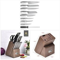 Kitchen Knife Set, BILL.F 18 Pieces Knife Set with Wooden Bl