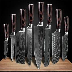 kitchen knives Laser Damascus pattern chef knife Sharp Cleav