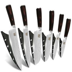 XYj Kitchen Knives Set 7Cr17 Stainless Steel Chef Knife with