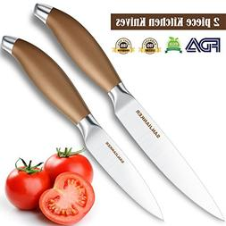 Kitchen Knives 2-piece Set, SANJIANKER 5-inch Utility Knife