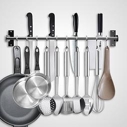 EINFAGOOD Kitchen Pot Rack, Kitchen Hooks Rack 10 Hooks with