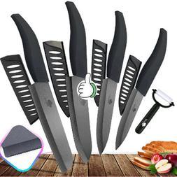 """Kitchen Chef Knife Set 3""""4""""5""""6 White Blade Ceramic knives se"""