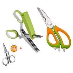 Jasni Kitchen Shears - Best Kitchen Scissors And 5-Blades Fu