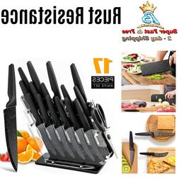 Kitchen Stainless Cutting Knives Set Knife Block Acrylic Non