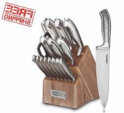 Knife Block Set Cuisinart Classic Stainless Steel 17-Piece K