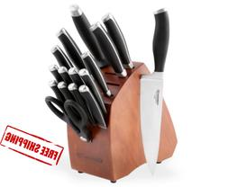 Knife Block Set Calphalon Contemporary 17-Piece Cutlery Kitc
