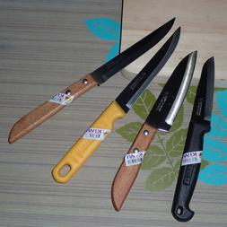 KNIFE KIWI BRAND SET 4 KNIVES FRUITS VEGETABLE CARVING ACCES