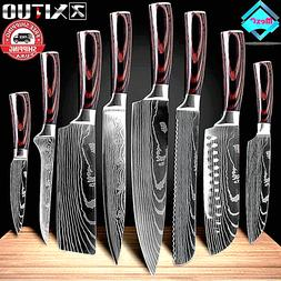 KNIFE KITCHEN CHEF JAPANESE DAMASCUS STEEL KNIVES $HARP CLEA
