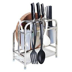 Knife Rack, Cutting Board Holder, CHICmension 304 Stainless