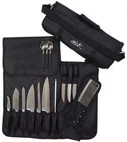 Chefs Knife Roll Bag  Holds 10 Knives  A Meat Cleaver Storag