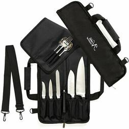 Chef Knife Roll Bag  is Padded and Holds 5 Knives PLUS a Pro