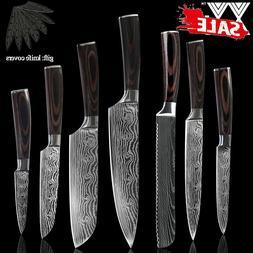 KNIFE SET 7PCS kitchen Cleaver knives, Japanese pattern,Stai