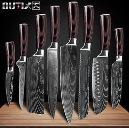 Knife Set 8 Kitchen Chef Japanese Damascus Steel Knives Shar