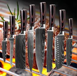 Knife Set 8 Kitchen Chef Japanese Damascus Steel Knives Shar