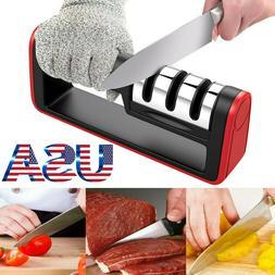 KNIFE SHARPENER Kitchen Knives Blade Sharpening Tool 3 Stage